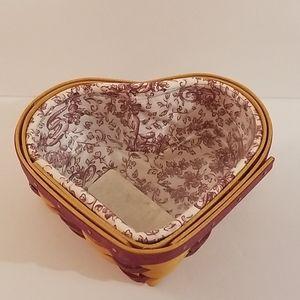 Longaberger Little Love Heart Valentine Basket